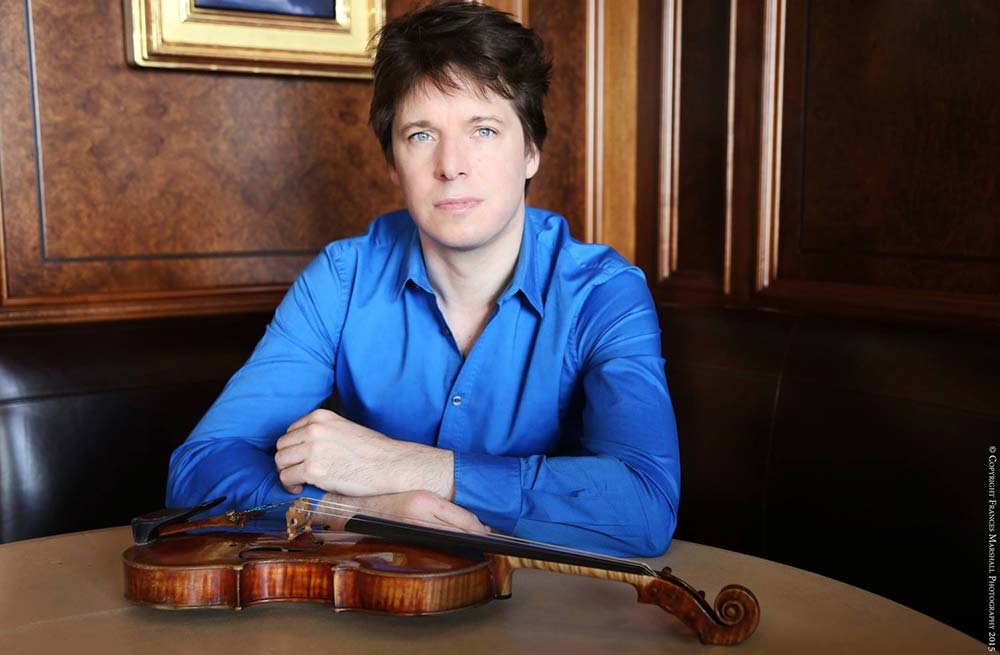 Joshua Bell, violinist – Photo Frances Marshall